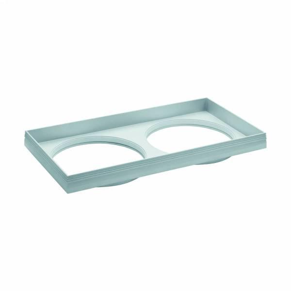 """Ferronego Installation frame """"111"""" square / 2-fach silver"""