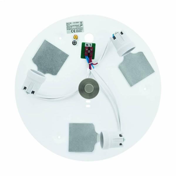 "Ceiling luminaire ""Pasteri Pro"" 3 x 60W nickel-matt"