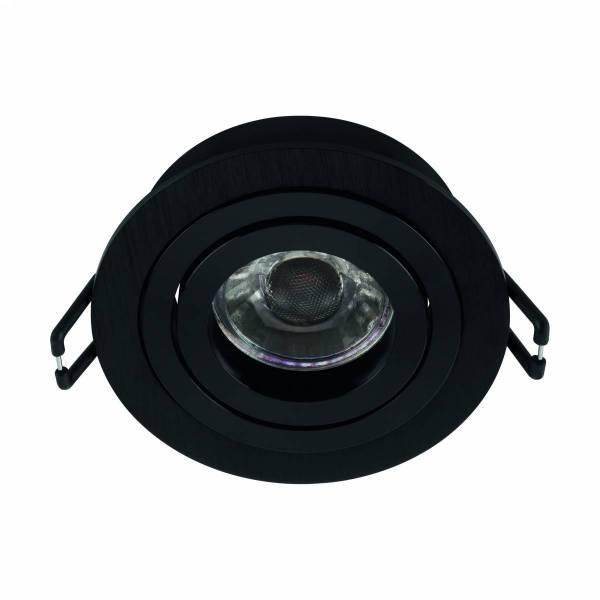 Terni Pro 50W GU10 round black IP20
