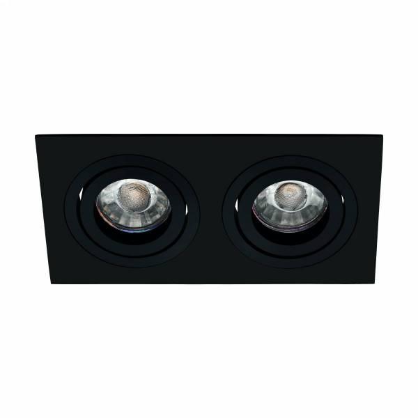 Terni Pro square / 2-fach / swivelling 50W black IP20