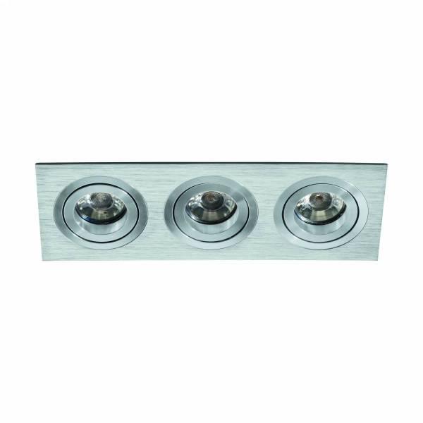 Terni Pro square / 3-fach 50W aluminium brushed IP20