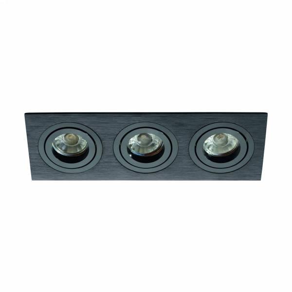 Terni Pro square / 3-fach / swivelling 50W black IP20