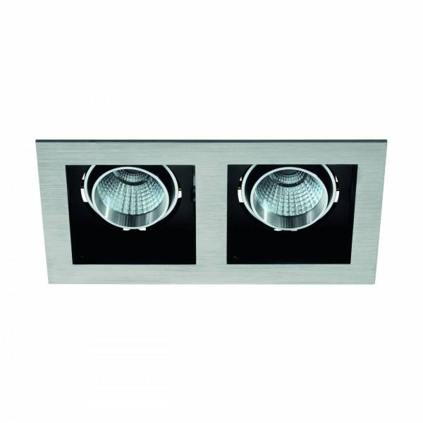 Biscari 2 swivelling 2 x 7W 2700K aluminium brushed IP20