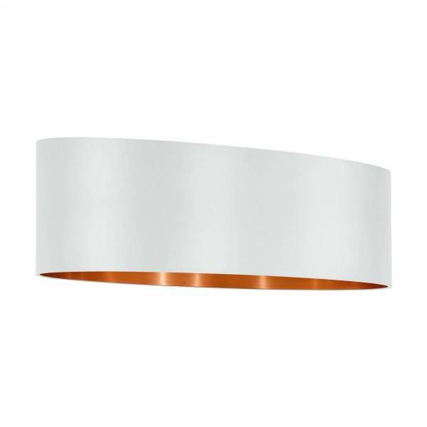 """Shade for Pendant luminaire """"Pasteri Pro"""" 2x60W white/copper"""