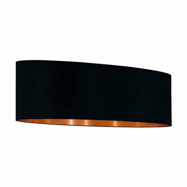 """Shade for Pendant luminaire """"Pasteri Pro"""" 2x60W black/copper"""