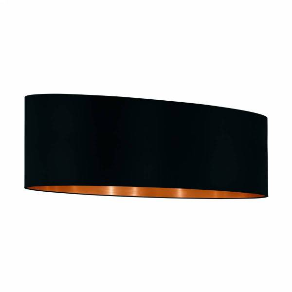 "Shade for Pendant luminaire ""Pasteri Pro"" 2x60W black/copper"