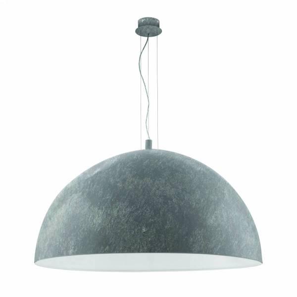 """Pendant luminaire """"Gaetano"""" 3 x 60W betongrey IP20"""