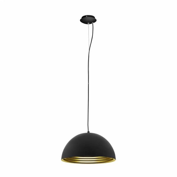 Panderas Pendant luminaire Ø350 60W black/gold IP20