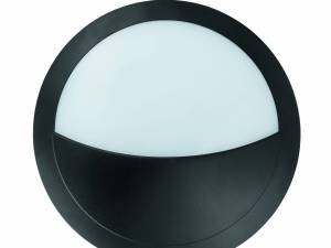 Bellaria wall-mounted luminaire round 6W 3000K black IP66