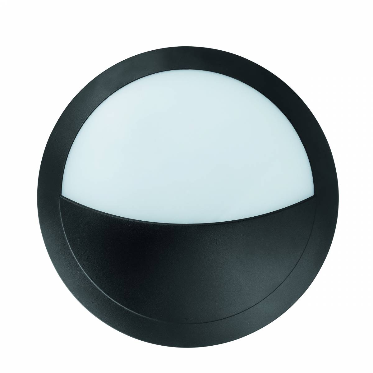 Bellaria wall-mounted luminaire round 6W 4000K black IP66