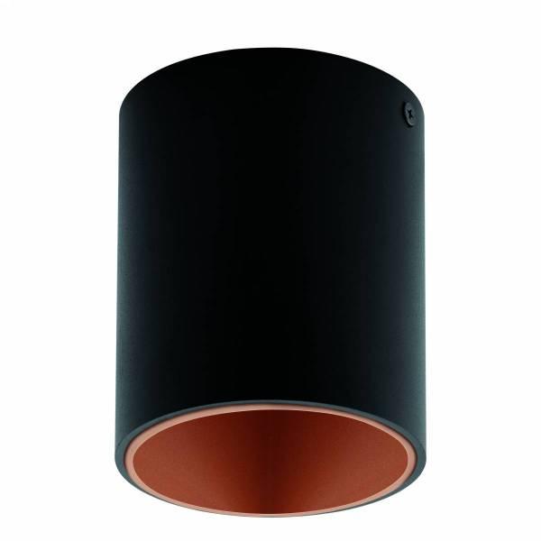 "Ceiling luminaire ""Polasso"" round 35W black / copperIP20"