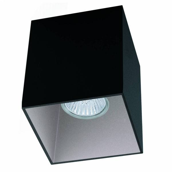 "Ceiling light ""Polasso"" square 35W black / silver IP20"