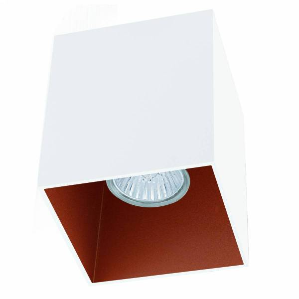 "Ceiling light ""Polasso"" square 35W white / copperIP20"