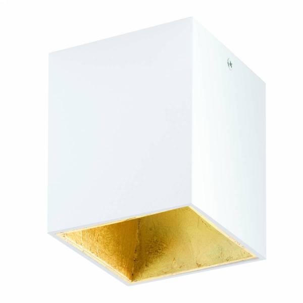 "Ceiling light ""Polasso"" square 35W white / gold IP20"