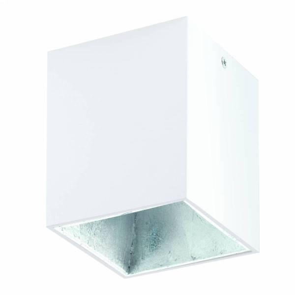 "Ceiling light ""Polasso"" square 35W white / silver IP20"