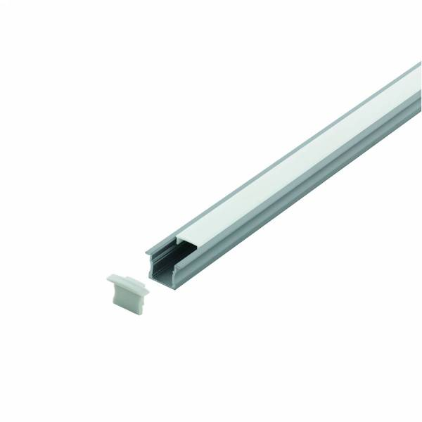 LED-Stripe Profile recessed with opal cover