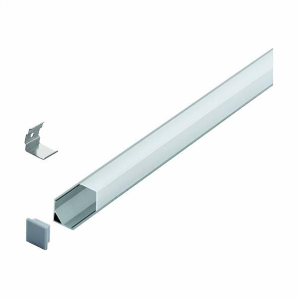 LED-Stripe Corner Profile with semi-transparent cover