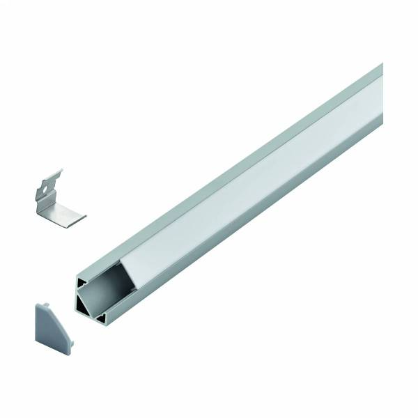 LED-Stripe Corner Profile with opal cover