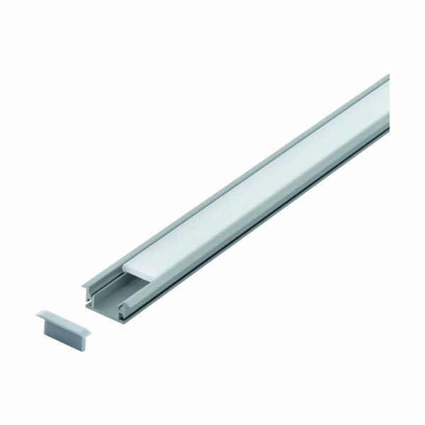 LED-Stripe Ground recessed Profile with opal cover
