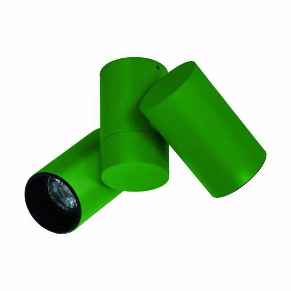 Ganzirri GU10 3er Cylinder grün (RAL 6017) IP20