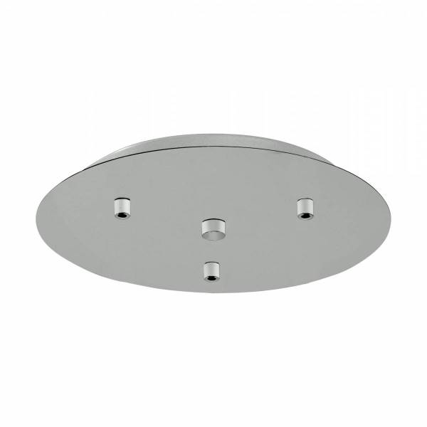 Canopy 3-fold, surface mounted dust-grey (RAL 7037)