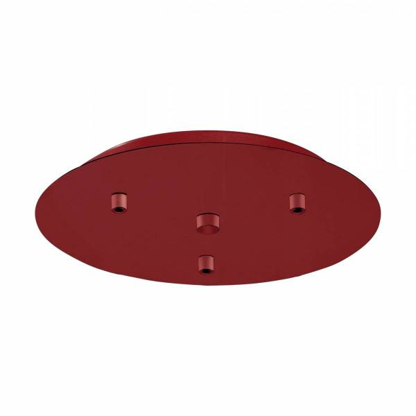 Canopy 3-fold, surface mounted traffic red (RAL 3020)