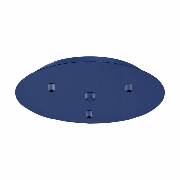 Canopy 3-fold, surface mounted gentian blue (RAL 5010)