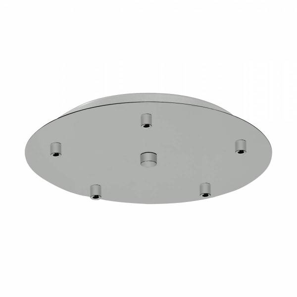 Canopy 5-fold, surface mounted dust-grey (RAL 7037)