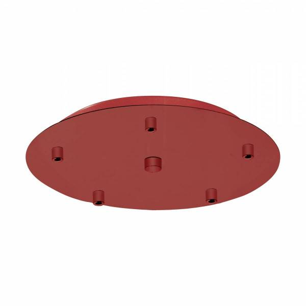 Canopy 5-fold, surface mounted traffic red (RAL 3020)
