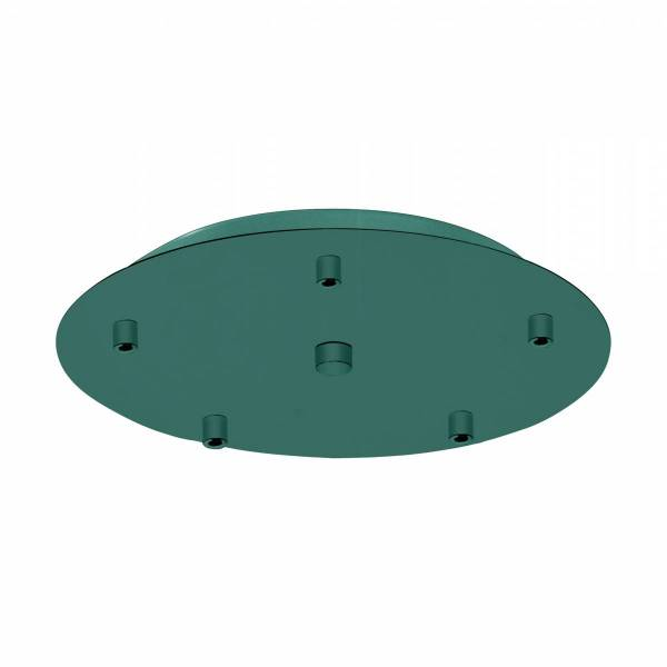 Canopy 5-fold, surface mounted opal green (RAL 6026)