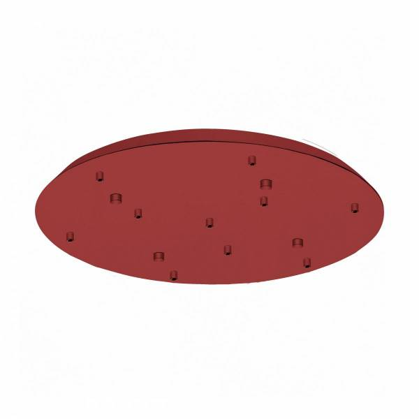 Canopy 10-fold, surface mounted traffic red (RAL 3020)