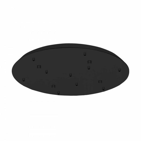 Canopy 10-fold, surface mounted black
