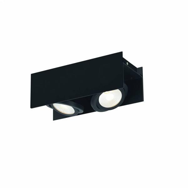 Vidago Pro / 2flg., DALI dimmable 2x9W 3000K black IP20