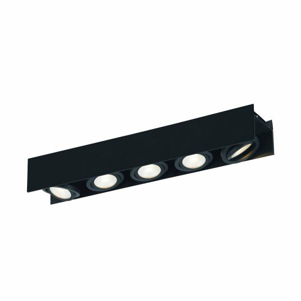Vidago Pro / 5flg., DALI dimmable 5x9W 3000K black IP20