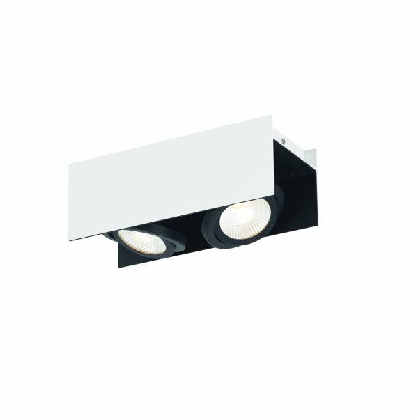 Vidago Pro / 2flg., DALI dimmable 2x9W 4000K white /black