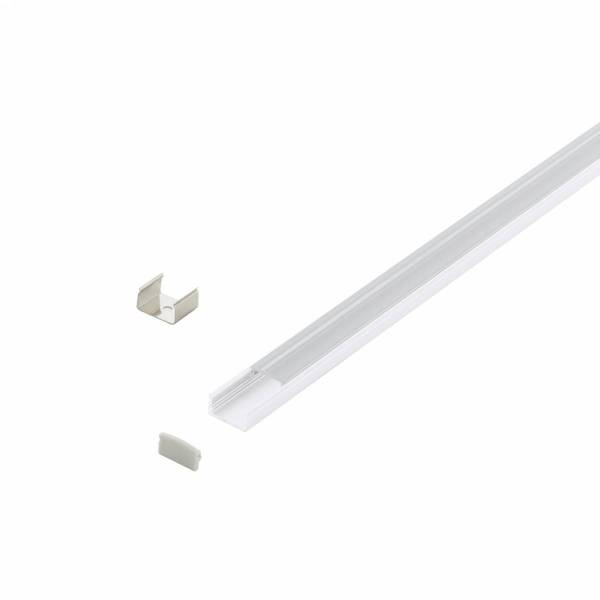 LED-Stripe Profile surface with Clear Cover white 1000mm