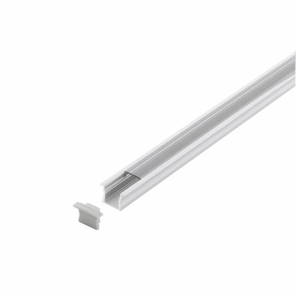 LED-Stripe Profile recessed with Clear Cover white 2000mm