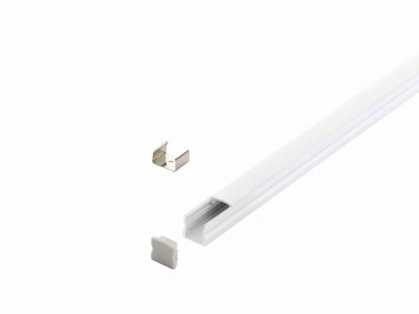LED-Stripe Profile surface with opal Cover white 2000mm