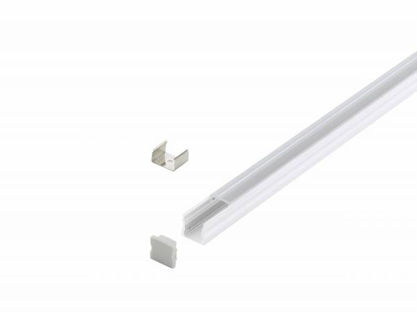 LED-Stripe Profile surface with Clear Cover white 2000mm