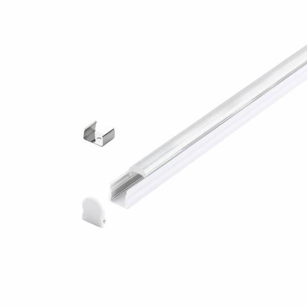 LED-Stripe Profile surface with 30° linear lens white 2000mm