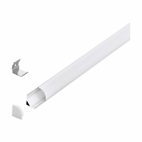 LED-Stripe Corner Profile opal semicircular cover wh 1000mm