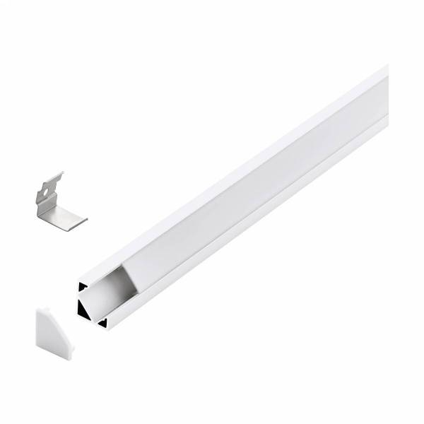 LED-Stripe Corner Profile opal Cover white 1000mm