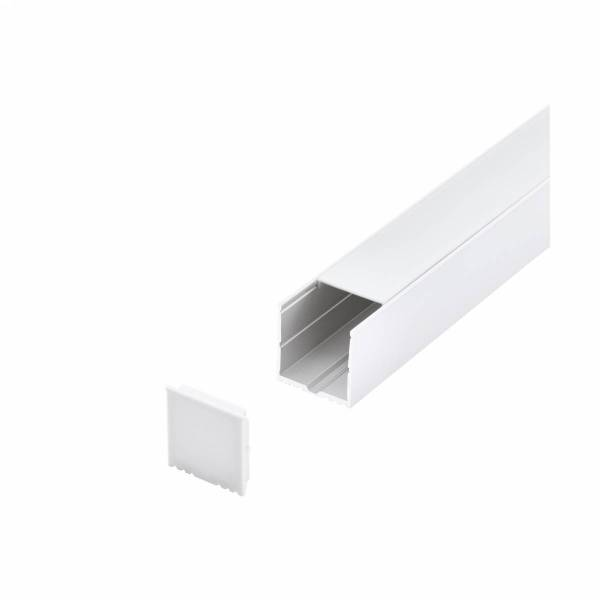 LED-Stripe Profile surface with opal Cover white 3000mm