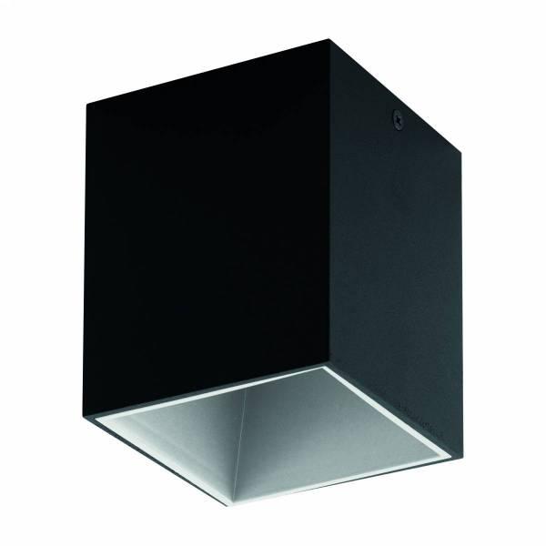 Polasso square 3,3W 3000K outside black, inside white IP20