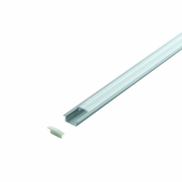 LED-Stripe Profile RE, satin cover silver, 2000mm