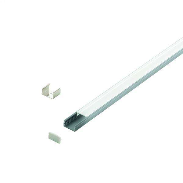 LED-Stripe Profile RE, satin cover, anodized, 3000mm