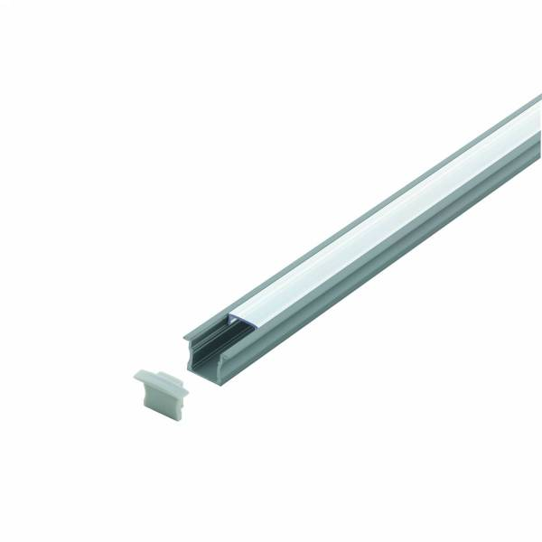 LED-Stripe Profile RE, satin cover, anodized, 2000mm