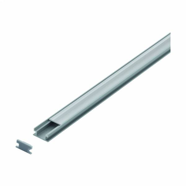 LED-Stripe Ground recessed Profile,satin cover, 2000mm