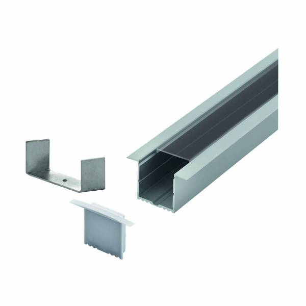 LED-Stripe Profile RE Clear cover, anodized, 2000mm