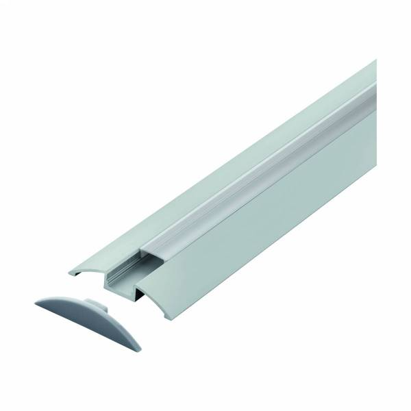 LED-Stripe Floor surface mounted Profile satin cover, 2000mm
